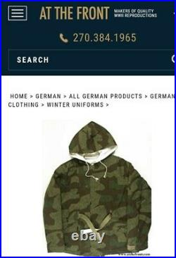 WWII German Winter Parka by At The Front Militaria SPLINTER size IV/4 NEW