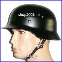 WWII M35 M1935 Steel Helmet Retro Army Black WW2 German Elite Army Collection