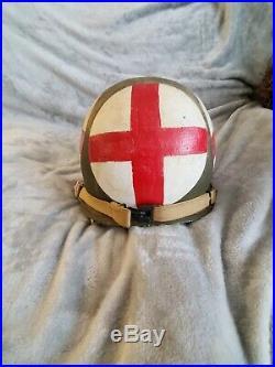 WWII U. S. Winter Medic Helmet authentic