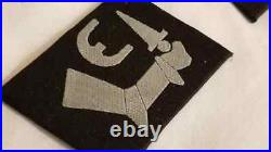WWII WW2 Elite German mixed Bevo collar tabs x 100 uniform insignia patches