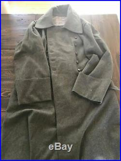 WWII WW2 German M42 Greatcoat Size L XL VG Condition Medium Weight Wool