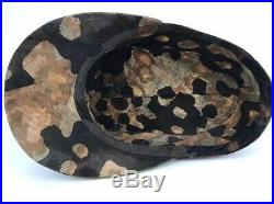 WWII Waffen-SS Original 3/4 Overprint Material Camouflage Cap