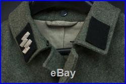 Waffen SS Mann Reenactors/Movie Prop Uniform Tunic Breeches Y-Belt
