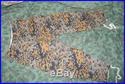 World War II WW2 Germany German Oak Leaf Pattern Camo M43 Tubnic Shirt Pants