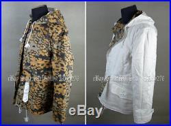 Ww2 German Autumn Oak Leaf Winter Reversible Parka Uniform Jacket Coat Size XL