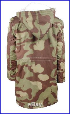 Ww2 German Elite Army Italian Camo Fur-lined Winter Parka Coat Size L