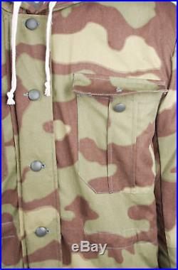 Ww2 German Elite Army Italian Camo Fur-lined Winter Parka Coat Size M
