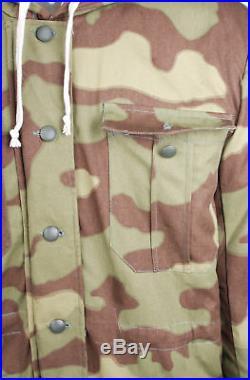 Ww2 German Elite Army Italian Camo Fur-lined Winter Parka Coat Size XL