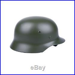 Ww2 German Elite Wh Army M42 M1942 Steel Helmet Field Grey-50016