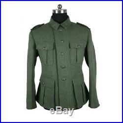 Ww2 German Enlisted Men Field-green M40 Wool Jacket (custom Made)-32590