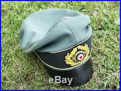 Ww2 German General Field Crusher Cap #2b (replica)