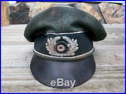 Ww2 German Heer Infantrie Officer Crusher Cap Wool Made. (nice Replica)