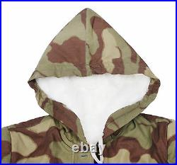 Ww2 German Italian Camo Fur-lined Winter Parka XL -3677