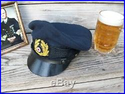 Ww2 German Kregsmarine Nco'crusher' Cap (nice Replica)