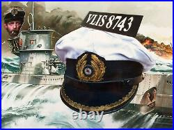 Ww2 German Kriegsmarine U-96 Captain-lt Style (nice Replica Of His Cap!)