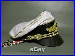 Ww2 German Luftwaffe Generalsummer Crusher Cap (nice Replica) Full Set