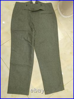 Ww2 German M40 Wh Em Field Grey Green Wool Tunic Trousers Set L Wwii Repro