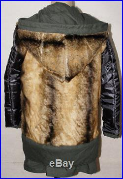 Ww2 German M43 Mouse Grey Rabbit Fur Winter Parka Great Coat Xl-32554