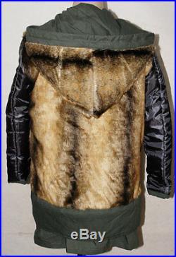 Ww2 German M43 Mouse Grey Rabbit Fur Winter Parka Great Coat Xxl-32554
