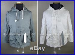 Ww2 German Mouse Grey Winter Reversible Parka Winter Military Uniform Coat M