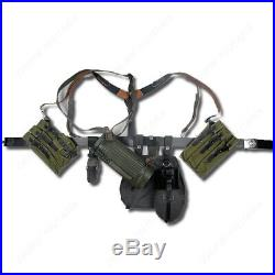 Ww2 German P38/p40 Canvas Bag Equipment Combination Solider Belt And Y Straps