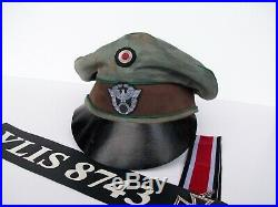 Ww2 German Police Crusher Cap, Combat Used (nice Replica)