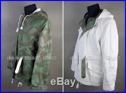 Ww2 German Splinter Winter Reversible Winter Military Uniform Parka Size S