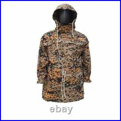 Ww2 German Spring And Autumn Oak Camo Reversible Mountain Anorak Smock Coat, L