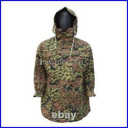 Ww2 German Spring And Autumn Oak Camo Reversible Mountain Anorak Smock Coat, M