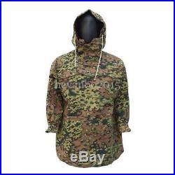 Ww2 German Spring And Autumn Oak Camo Reversible Mountain Anorak Smock Coat, XL