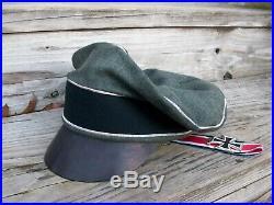 Ww2 German Waffen-ss Nco Infantrie Crusher Cap Wool Made. (nice Replica)