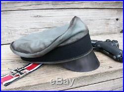 Ww2 German Waffen-ss Nco Pioneer Crusher Cap (nice Replica)