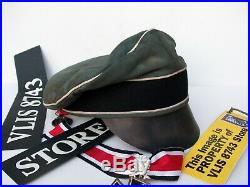 Ww2 German Waffen-ss Nco'das Reich' Div.'crusher Cap' Battle Used Look