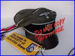 Ww2 German Waffen-ss Transport And Supply Troops Crusher Cap