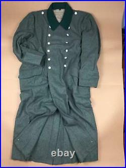 Ww2 German Wh M36 Field Grey Wool Greatcoat Coat Size M Wwii Repro