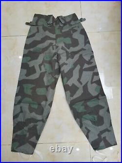 Ww2 German Wh M43 Splinter Camo Field Tunic & Trousers Set Size XXXL Wwii Repro