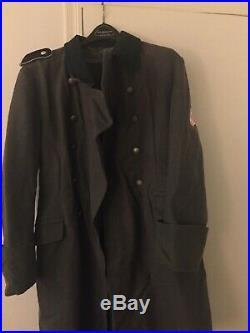 Ww2 Reproduction German Great Coat M-1936 Xl Elite Bottle Green Collar