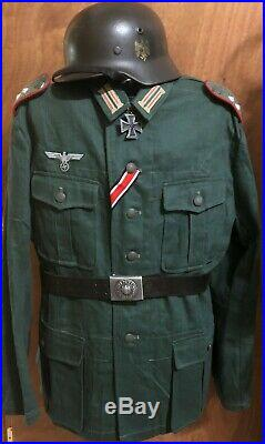 Ww2 Style German Artillery Enlisted Uniform Summer Tunic XL (reproduction)