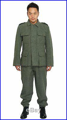 Ww2 Wwii German M36 Em Wool Field Military Uniform Set Tunic & Trousers L