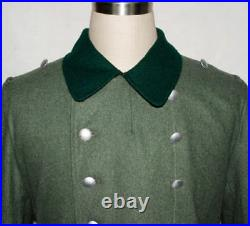 Ww2 Wwii German Wh M36 M1936 Field Grey Wool Overcoat Greatcoat Coat Size L