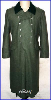 Ww2 Wwii German Wh M36 M1936 Field Grey Wool Overcoat Greatcoat Coat Size M