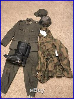 Ww2 german uniform, Smock, Trousers, Helmet, Cap, And Boots