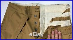 Wwii German Afrika Korp Tropical Luftwaffe Jump Field Trousers-size 4 38 Waist