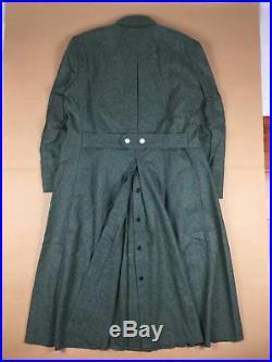 Wwii German Army Elite M40 Field Grey Green Wool Greatcoat Coat Overcoat Size M