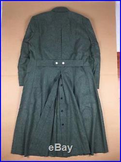 Wwii German Army Elite M40 Field Grey Green Wool Greatcoat Coat Overcoat Size XL