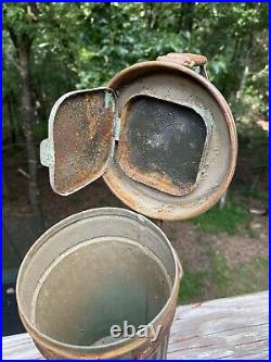 Wwii German Army Gas Mask Canister Camouflaged