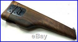 Wwii German Belgian Browning High Powered 9mm Pistol Wooden Stock