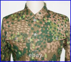 Wwii German Elite Hbt Peas Dot 44 M43 Field Camouflage Military Uniform XL