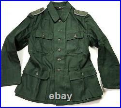 Wwii German Heer & Waffen M43 M1943 Hbt Summer Tunic- Small
