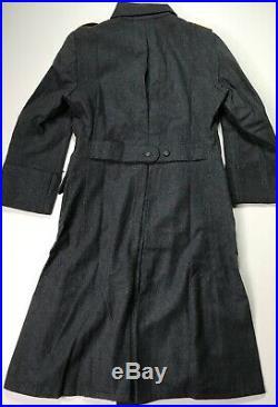 Wwii German Luftwaffe Blue Wool M40 Overcoat Greatcoat- Size 2 (38r-42r)